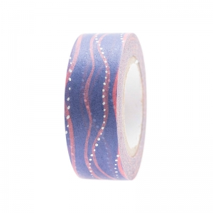 Washi tape Waves blue-pink