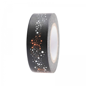 Washi tape Bubbles black