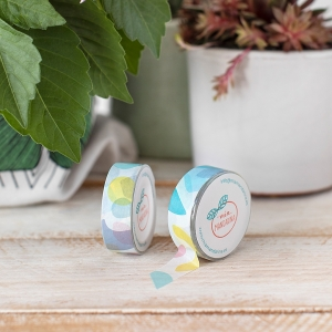 Washi tape Mia-Basic white