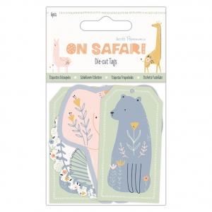 6 Die cuts etiquetas Safari