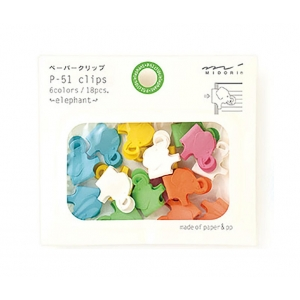 18 mini clips elefante