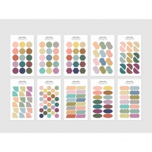 10 hojas pegatinas Color sticker