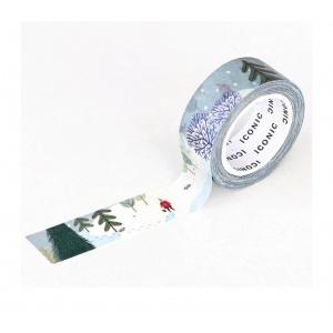 Washi tape 037 Winter forest - Iconic