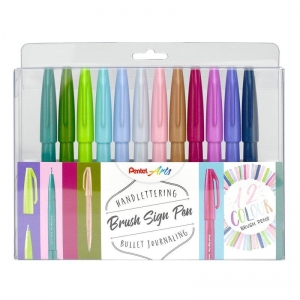Pack 12 Rotuladores Pentel Touch - Colores nuevos