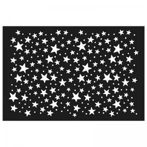 Plantilla estarcido Estrellas 10x15 cm