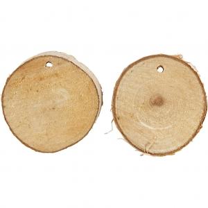 Malla rodajas madera 3-5 cm