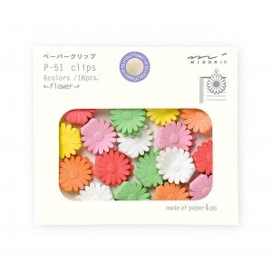 18 mini clips flores