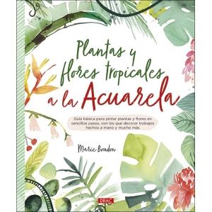 Plantas y flores tropicales a la acuarela