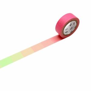 Washi Tape Fluorescent pink x green mt