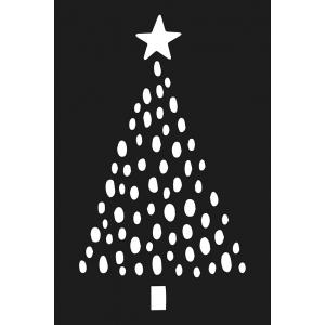 Plantilla estarcido Cosy Christmas Sapin 10x15 cm