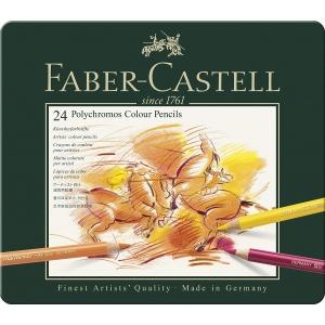 24 Polychromos Faber Castell (estuche metal)