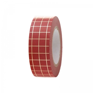 Washi tape Xmas red-gold