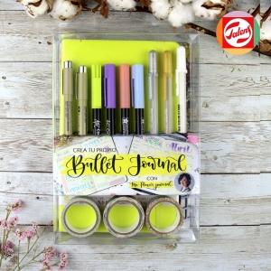 Kit Crea tu Bullet journal - Verde-amarillo