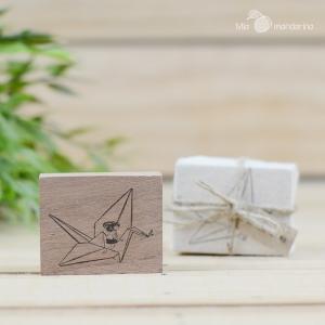Sello Paper Crane 5.1x4.1cm