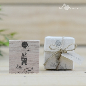 Sello Floating House 4x4.3cm