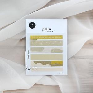 3 Hojas Pegatinas Plain 48