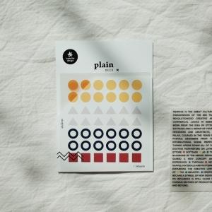 3 Hojas Pegatinas Plain 22
