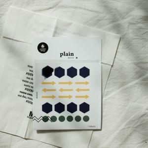 3 Hojas Pegatinas Plain 23