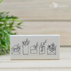 Sello Sobres floreados 5.5 x 11 cm