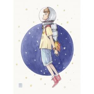 Astronauta - Lámina A4 Esther Gili