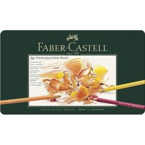 36 Polychromos Faber Castell (estuche metal)