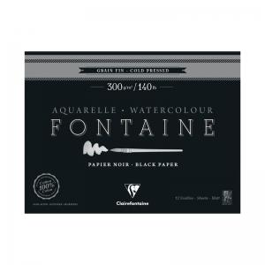 Fontaine Aquarelle Negro - Bloc encolado