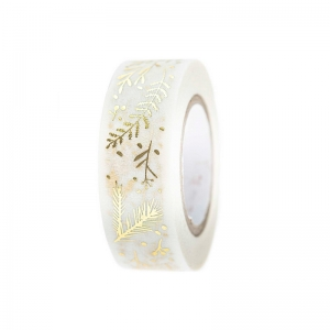 Washi tape branches white/gold