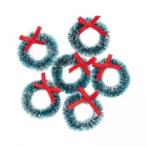 6 mini coronas navidad