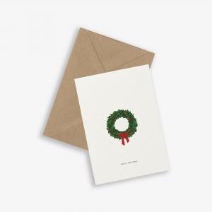 Tarjeta Corona Navidad (+sobre)