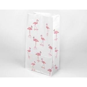 10 bolsas paper bag flamingo