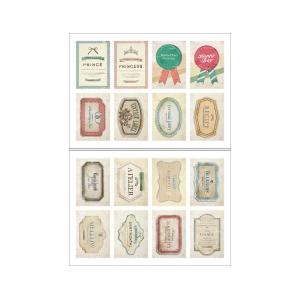 2 hojas pegatinas sellos Label