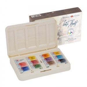 Caja 12 acuarelas White Nights (plástico) - Edición IWS