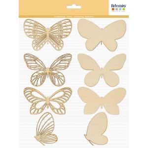 8 siluetas mariposa