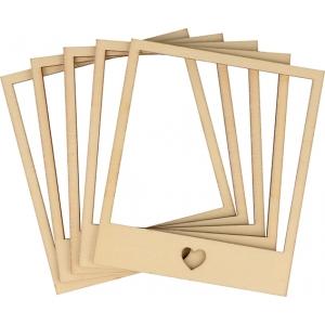 5 marcos madera 9 x 10.5 cm