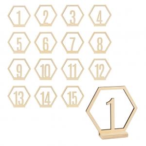 15 Números con soporte 10 cm
