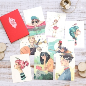 Pack Rojo Postales Esther Gili