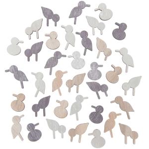 36 siluetas pájaros