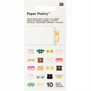 Mini libro de pegatinas Index Animal