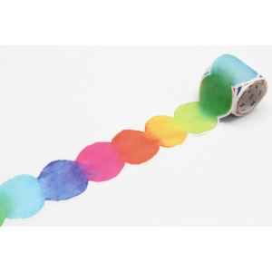 4.5 cm Washi tape fab blurred water color paint MT