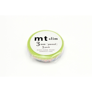 3 Super Slim 3mm Pastel Washi Tape mt