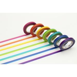 Set 7 Washi Tape Slim mt - Rainbow
