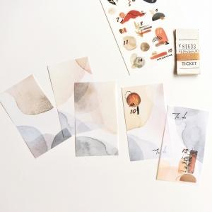 20 recortes papel calco N11 (5.5x10cm)