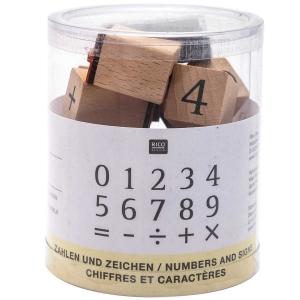 15 sellos números y símbolos