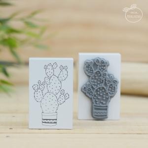 Sello Cactus White (3.5 x 5.5 cm)
