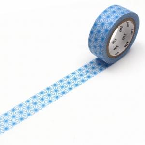 Washi tape Asanoha Tsuyukusa (azul) MT