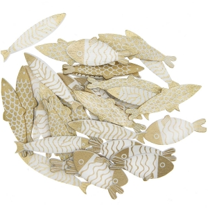 36 siluetas peces dorados
