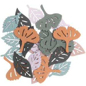 48 siluetas hojas verdes