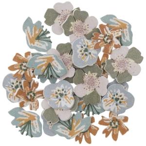 48 siluetas flores verdes