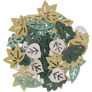 48 siluetas hojas verdes mix