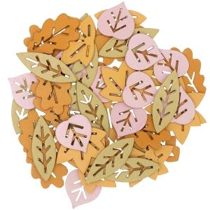 48 siluetas hojas marrones mix